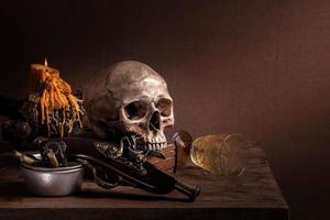 bodegón cráneo foto