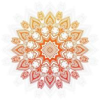 Orange and Yellow Gradient Mandala Design vector