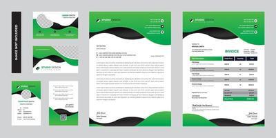 design de modelo de papelaria corporativa empresarial moderno