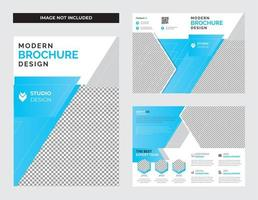 företagsföretag tvåfaldig broschyrdesign