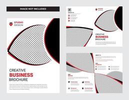 White Clean Business Brochure Flyer Template Design Set