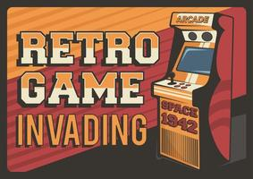 Retro Game Invading Poster
