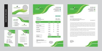 Modern Green Business Corporate Stationery Template Design