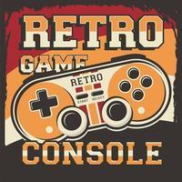 Gamer Controller Retro Poster vector
