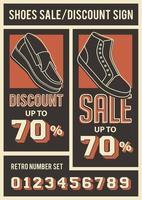 Schuh Rabatt Poster vektor