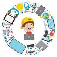kleines Kind und Technologiegeräte