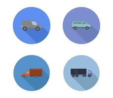 uppsättning platt transportikoner