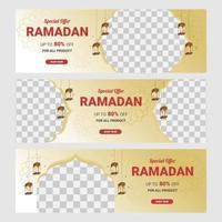 speciale aanbieding ramadan verkoop banner set