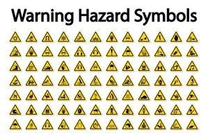 ampio set di simboli di pericolo