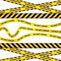 Quarantine Tape Isolated on White Background