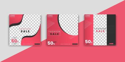 Fashion Sale Social Media Post Templates vector