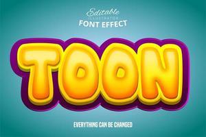 efecto de texto brillante toon vector