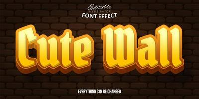 Cute Wall Text Effect