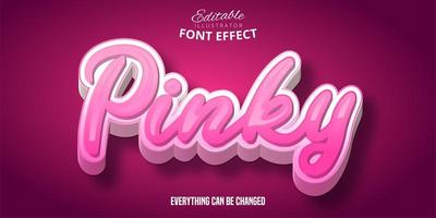 Pinky Text Effect vector