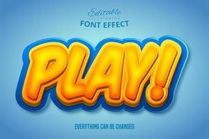 jugar efecto de texto 3d vector