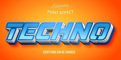 Blue Techno Text Effect