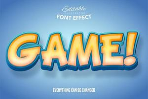 Bold Game Text vector
