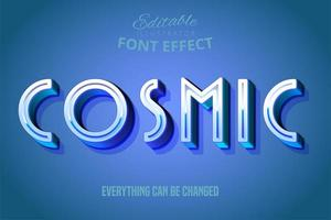Cosmic Blue Text Effect