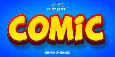 Comic Bold 3D Text Effect  vector