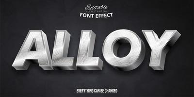 Alloy Font Effect  vector