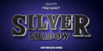Silver Shadow Text Effect  vector