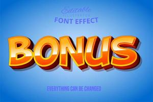 Bonus Orange Text Effect  vector
