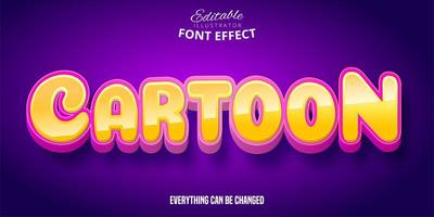 efecto de texto rosa naranja de dibujos animados