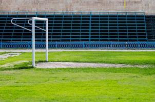 puerta de fútbol en el antiguo estadio foto