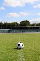 Soccerball on soccer field photo