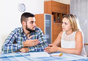 Advisor consulting struggling young woman