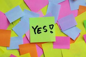 YES! post-it