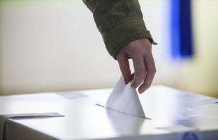 mão votante