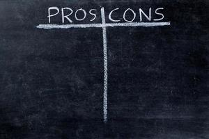 Pros and cons on blackboard