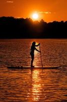 Woman on a Paddleboard photo
