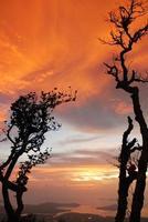 puesta de sol en el parque nacional foto