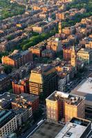 Urban city aerial view photo