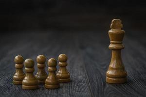 White Pawns Against King photo