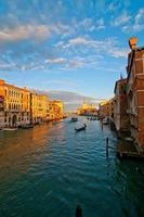 vista de gran canal de venecia italia foto