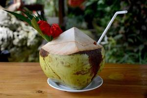 Coconut drink photo