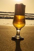 Golden drink. photo