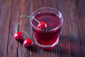 bebida de cereza foto