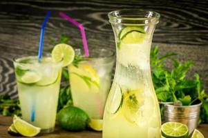 bebida de limonada fresca