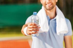 bebe um pouco de água!