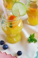 orange soft drink photo