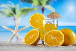 bebida de cóctel de naranja