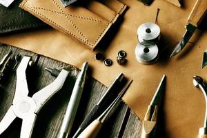 Leather crafting tools photo