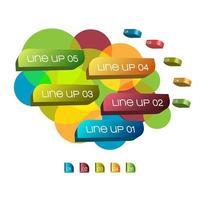 infografía en capas de colores
