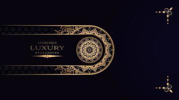 fond de mandala de luxe noir