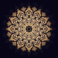 fundo de mandala estrela dourada vetor