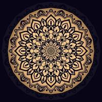 gouden ingewikkelde mandala achtergrond